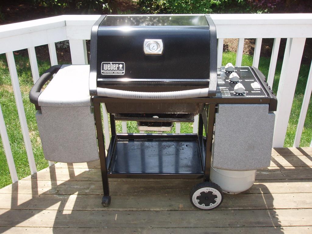 Weber grill weber genesis silver propane 3 burner grill - Weber genesis silver grill ...