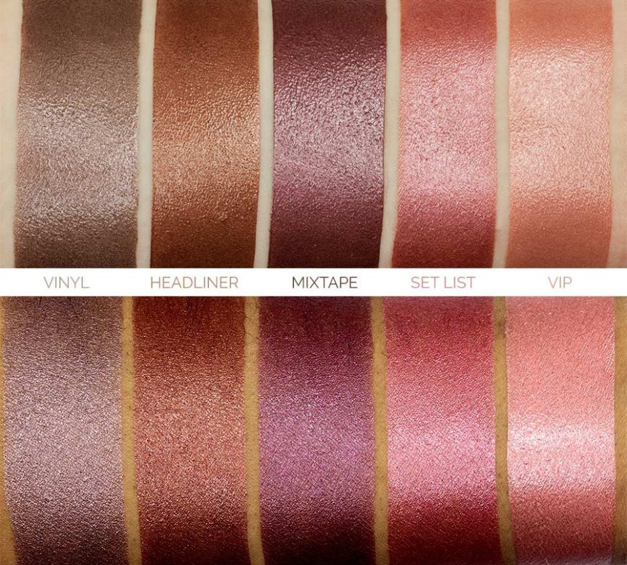 Makeup Geek Foiled Lip Gloss Swatches