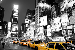 REWARD OFFERED!!! Times Square New York Black White and Yellow taxi cab! 83,000 views! | by Paul in Leeds (thanks for 2 million views!)