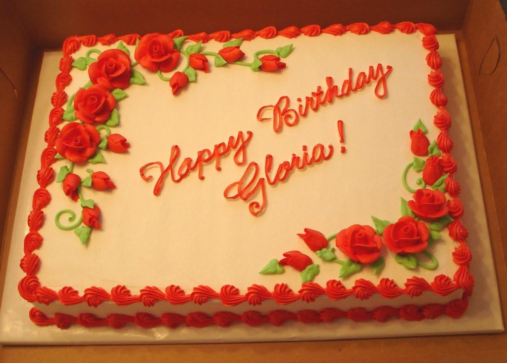 Red Roses Sheet Cake   katyskakes   Flickr
