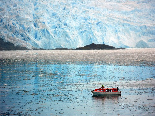 "060/365 THE WORLD Amalia Glacier, Chile ""Getting Ice for our Drinks--no, REALLY!"" 