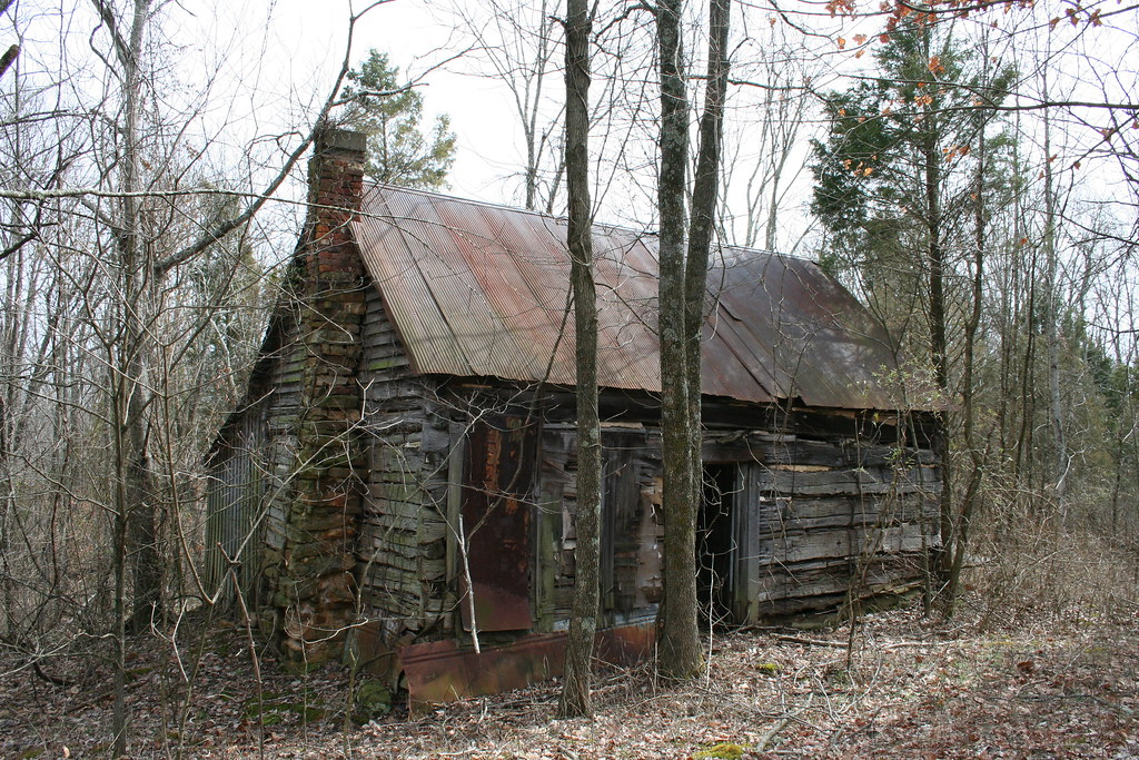 Front Of The Abandoned Cabin In The Woods Clayton Sieg