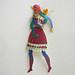 Girl-Bird (paper sculpture)