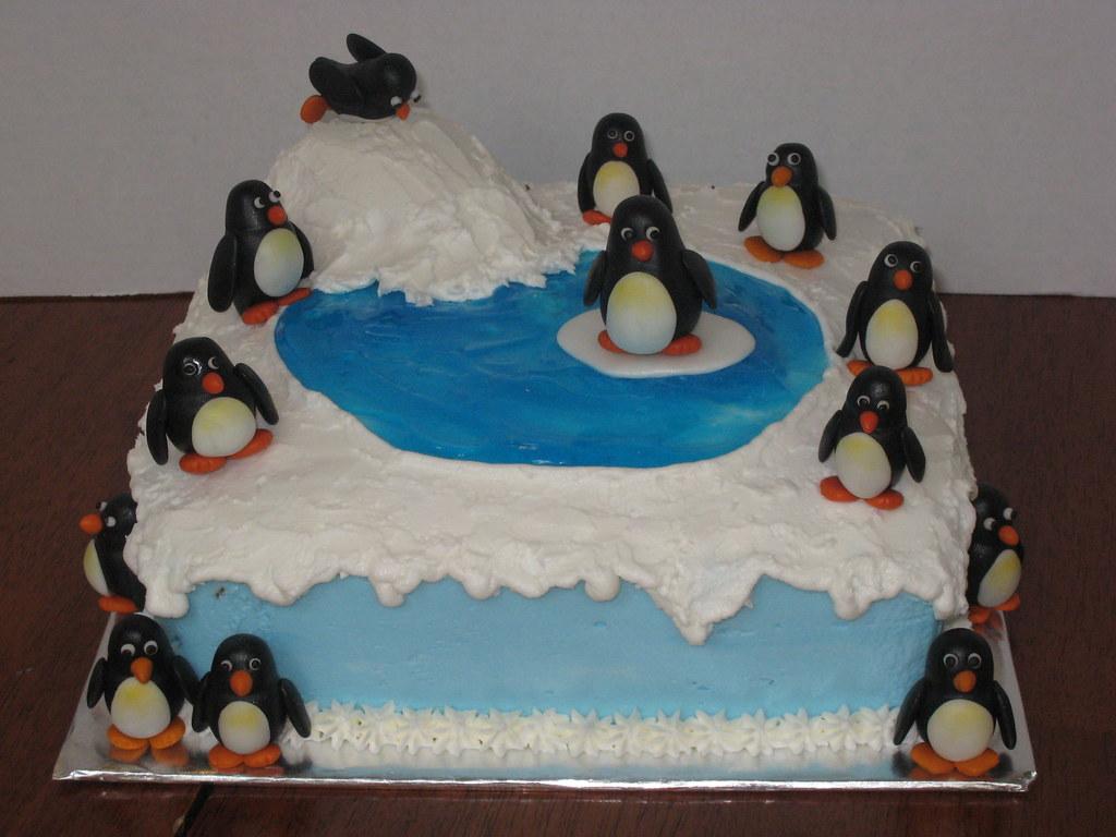 Birthday Cake Ideas Penguin : Penguin Birthday Cake cakebyira Flickr