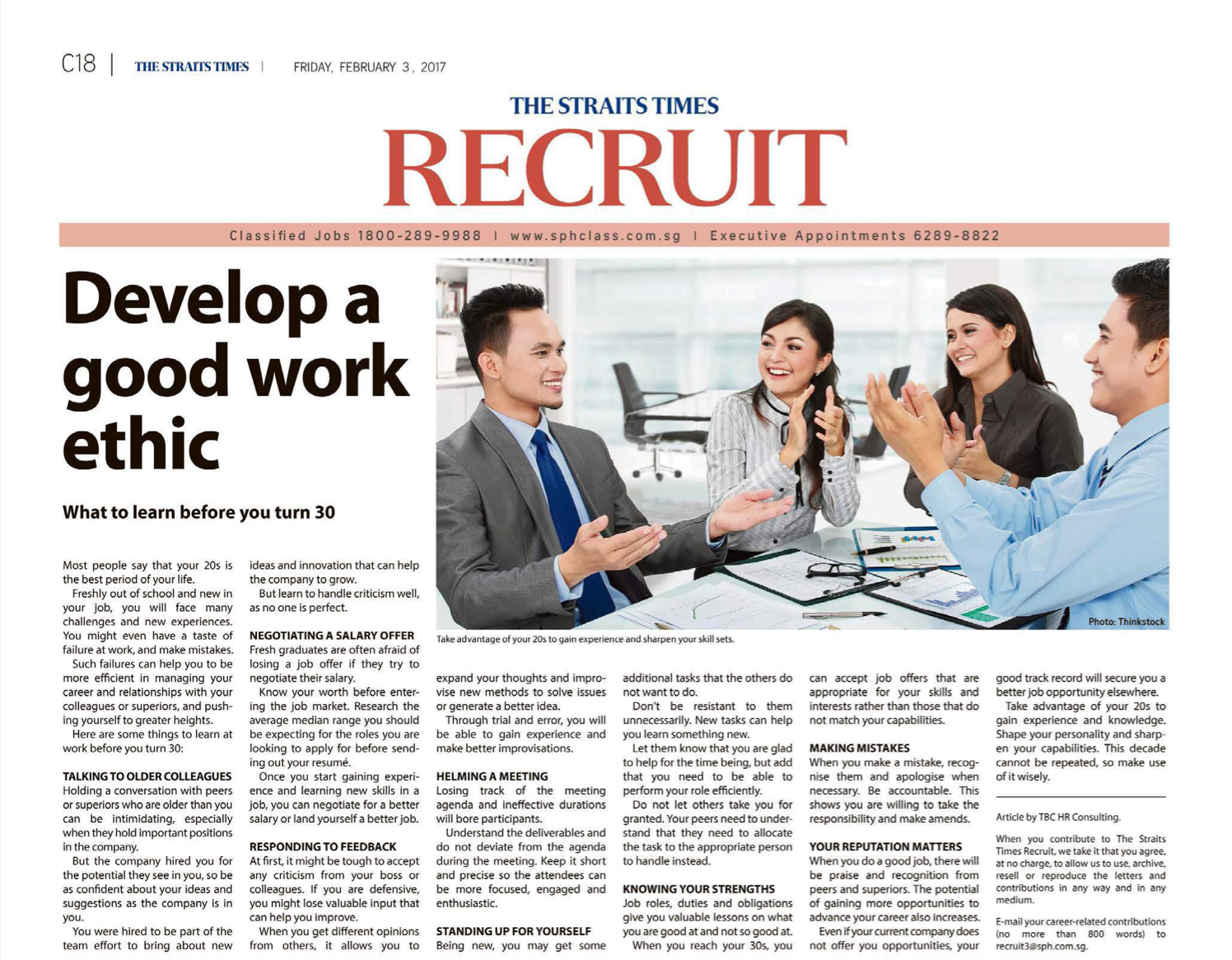 blog 3 2017 develop a good work ethic what to learn before you turn 30 the straits times