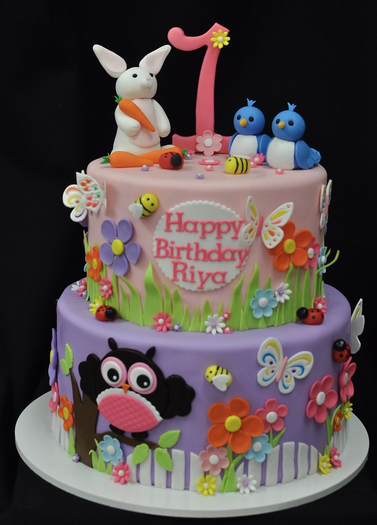 Nature themed birthday cake Jenny Wenny Flickr