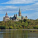 Canadian Parliament Buildings overlooking Ottawa River