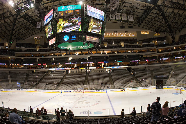 View From Our Seats At American Airlines Center Dallas T