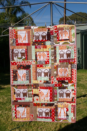 scrap quilt | by Little Red Pear