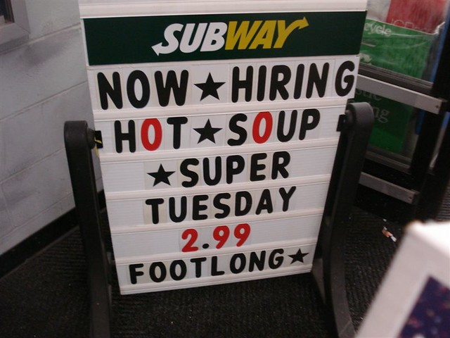 Subway Hiring In Long Beach Ca