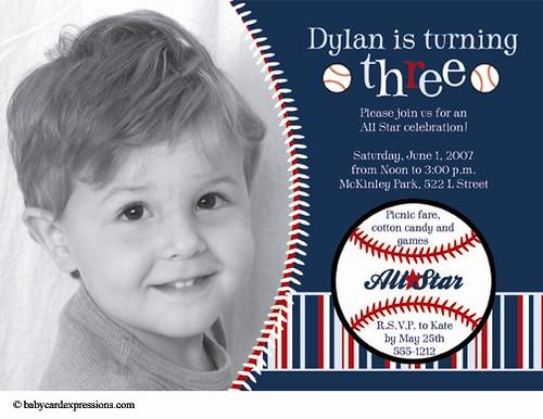 baseball birthday invitation, babycardexpressions  flickr, Birthday invitations