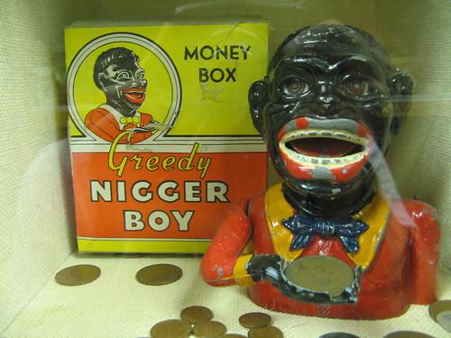 Portland - Kidds Toy Museum  Greedy Nigger Boy Money Box -2986