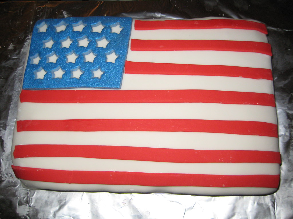 Usa Flag Birthday Cake