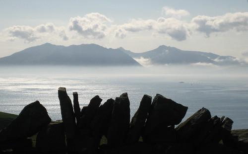 Mist falling from Arran, viewed from Golldenberry hill Hunterston | by wheehamx