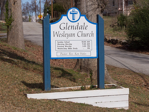Glendale Wesleyan Church sign