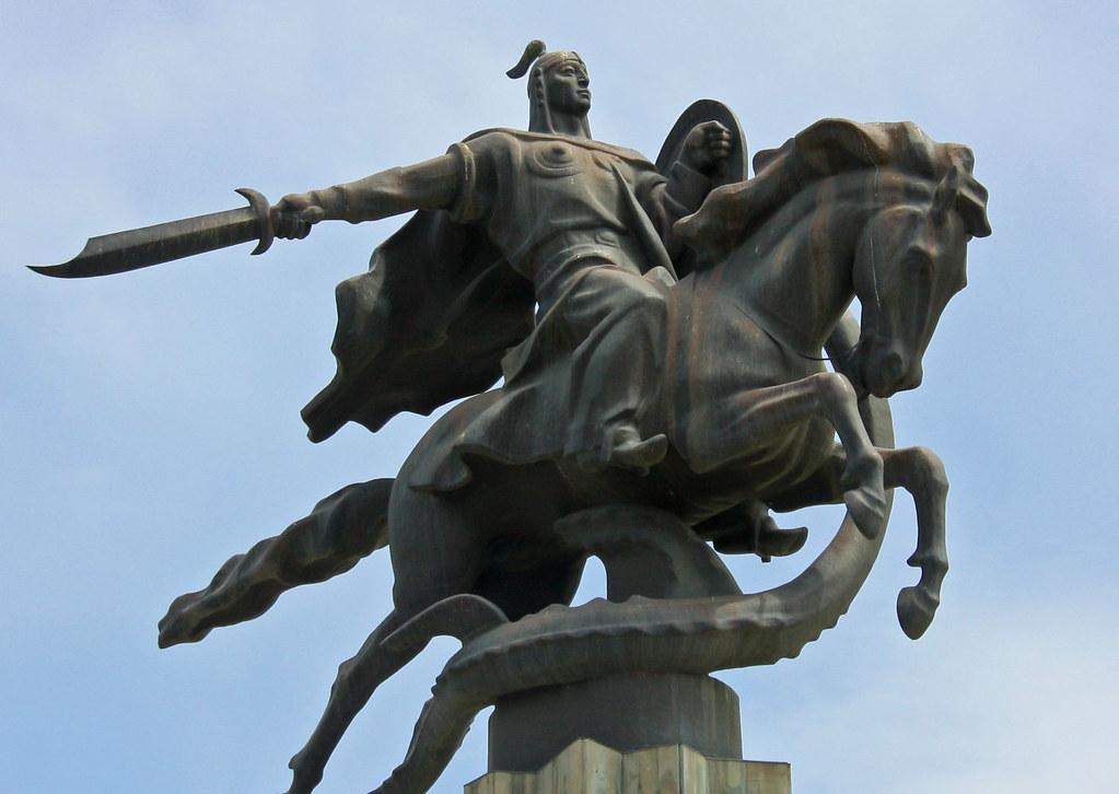 National hero 'Manas', Bishkek, Kyrgyzstan