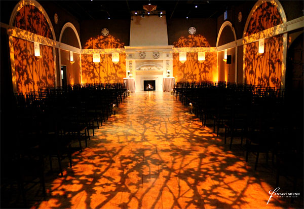 Trees Gobo Patterns Gobo Washes Down The Aisle And On