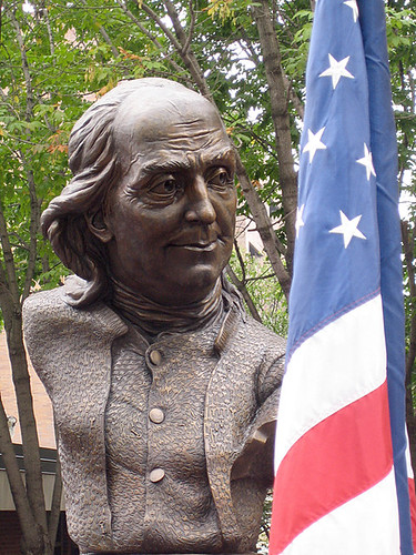 Keys To Community: Ben Franklin and flag | by jepsculpture
