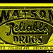 WATSON'S DRUG STORE