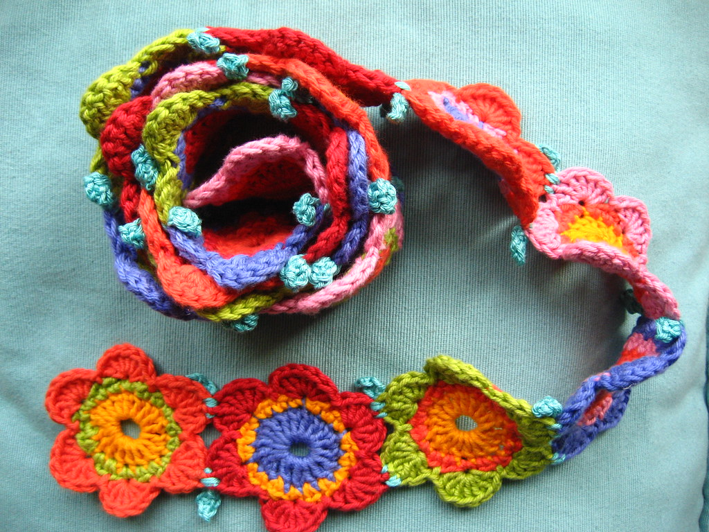 Flower Scarf My Finished Scarf Ready To Wear Attic24 Flickr