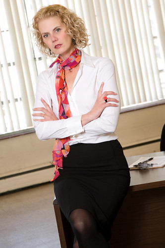 Mature Business Woman  Mature Businesswoman Leaning On -4212