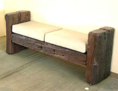 railway sleeper bench Elin B