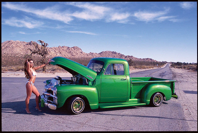 1948 Chevy Pickup | Model, Terah Oliva, is pictured here ...