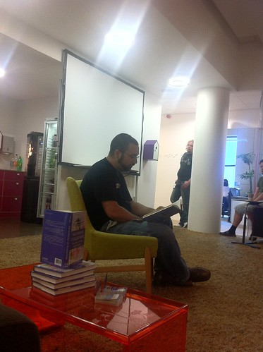 Cyrus Farivar S Book Reading At Skype Office In Tallinn border=