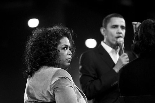 Oprah with Sen. Obama in Des Moines, IA | by Joe Crimmings