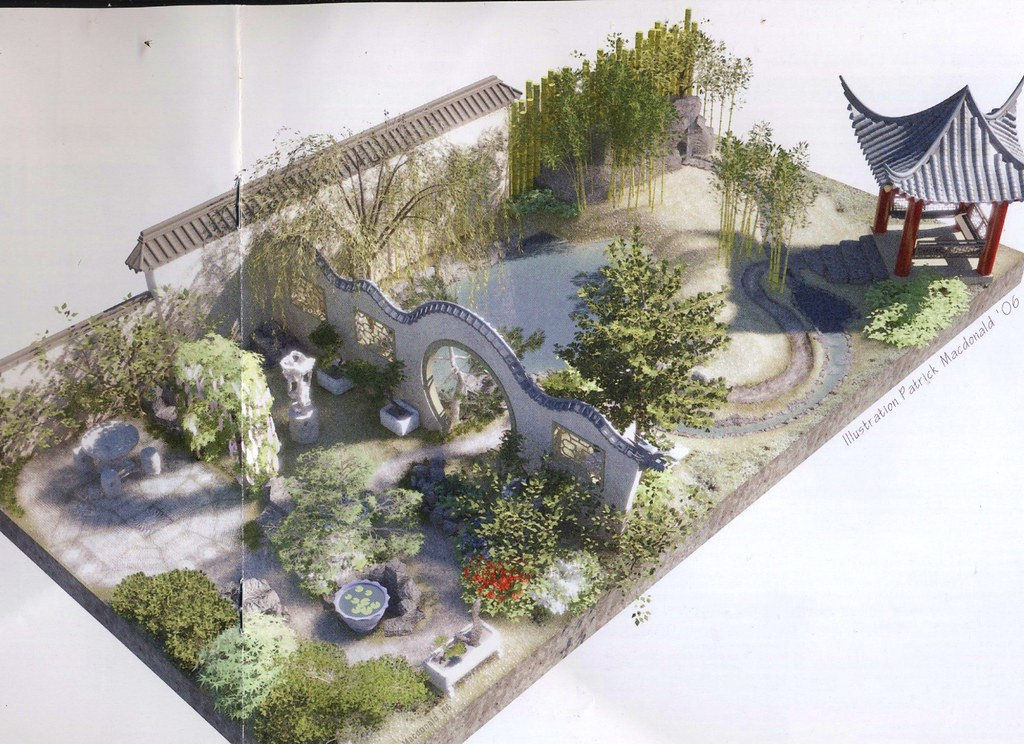 Plan for the chinese moongate garden chelsea 2007 flickr for House garden design india