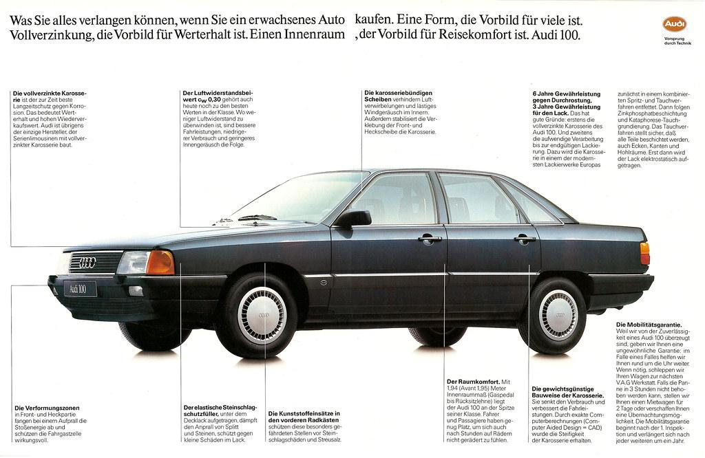 Reklame Audi 100 C3 Typ 44 1987 Teil 1 2 Jens
