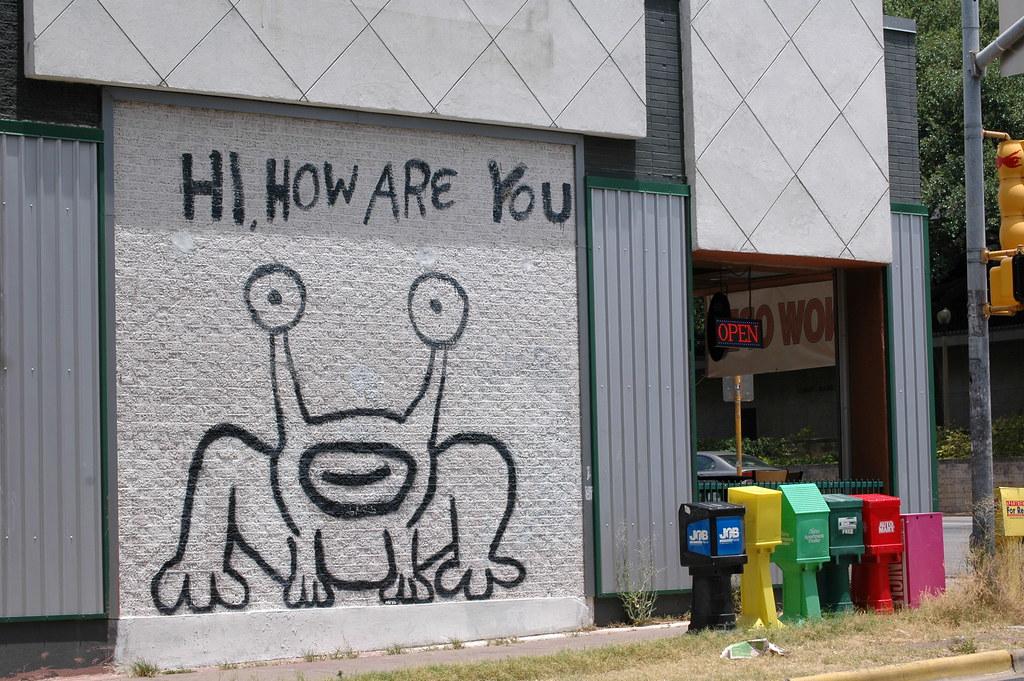 Daniel johnston art austin tx tony alma photos flickr for Daniel johnston austin mural