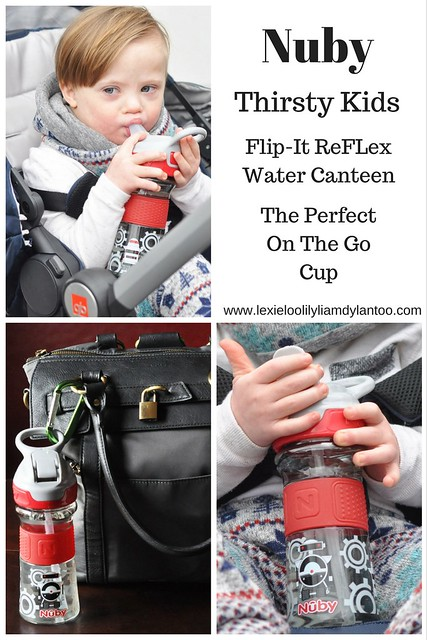 Nuby Thirsty Kids Flip-It ReFLex water canteen - The perfect on the go cup #sponsored