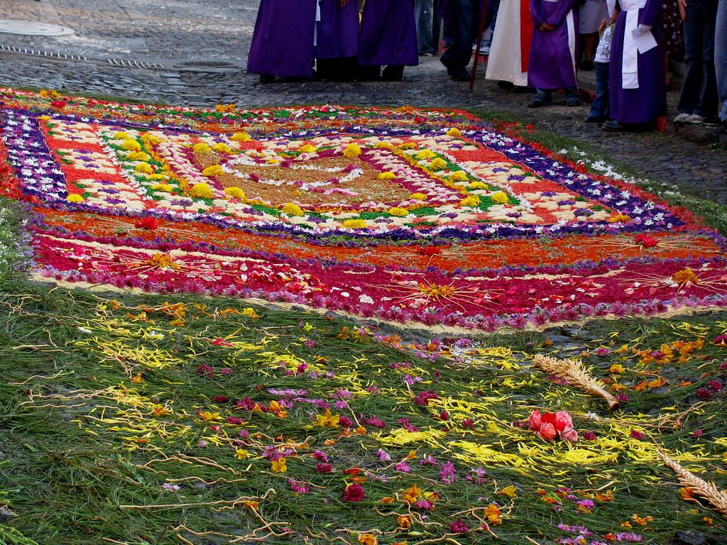 Alfombra para jes s nazareno de la merced en la procesi n for El paraiso de las alfombras
