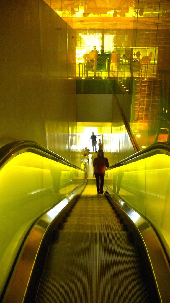 Yellow Escalator Hudson Hotel New York Urban Adventure