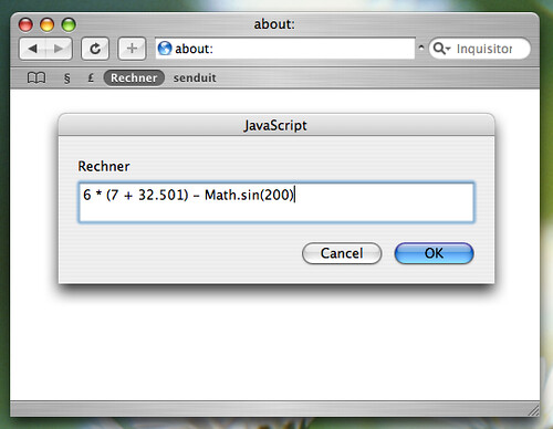 ... My Calculator Bookmarklet (I/II) | By Schoschie