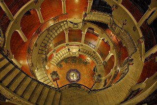 Day 132, Mission Inn, Riverside, CA, Rotunda Stairway, Night Time | by SoLostAndFound / Bill Lindsay
