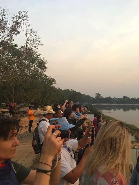Angkor Wat photographers at sunrise