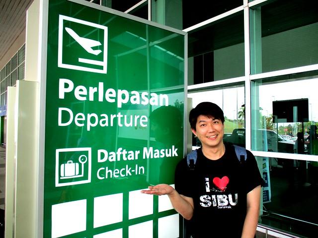 Nick at Sibu Airport, departure