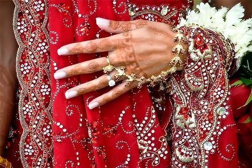 Bride 2 hand and dress of a hindu bride at a wedding flickr