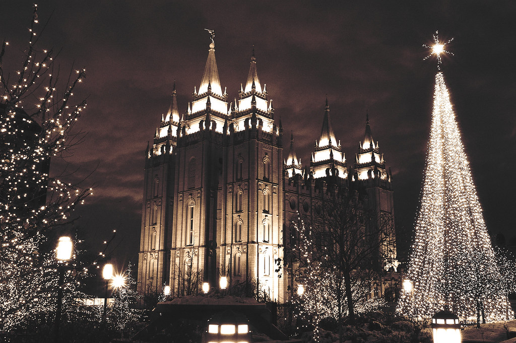 Christmas Lights At Temple Square