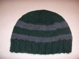 green and grey striped men's hat | by camper4