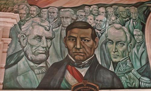 Benito juarez mural benito juarez the first president for Benito juarez mural