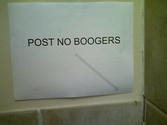 the bathroom-stall booger epidemic | by passiveaggressivenotes