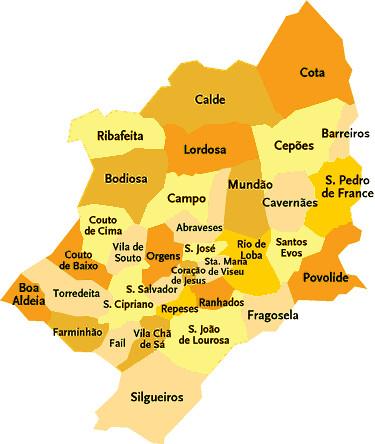 mapa do concelho de viseu Concelho de Viseu | Mapa das freguesias | Jorge Bastos | Flickr mapa do concelho de viseu