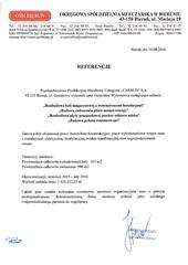 Referencje Firmy Xenon Energetyka w Bieruniu 2015r.