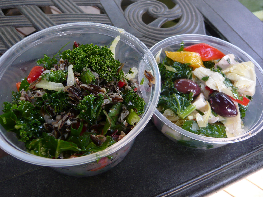Salads | Kale salad with wild rice (the Emerald City salad ...