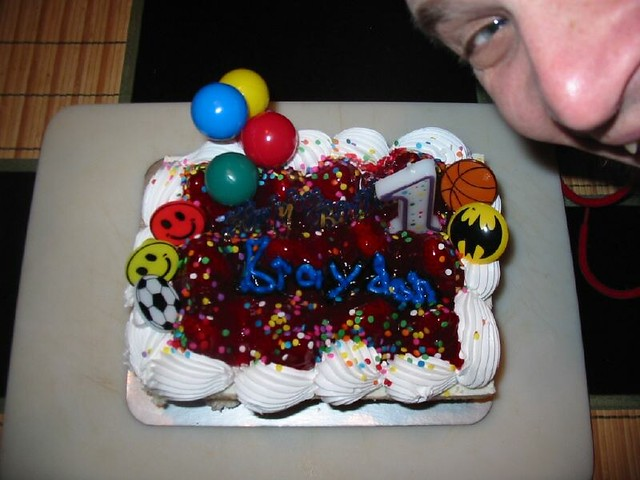 Fabulous Cake From Ralphs Look At That Poor Cake Its A Strawberr Flickr Personalised Birthday Cards Arneslily Jamesorg