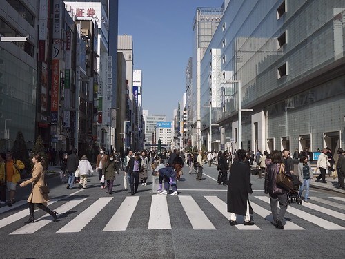 Ginza Chuo Dori on a Sunday afternoon | by maki