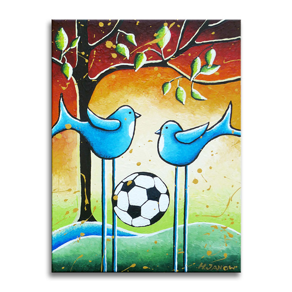 soccer players original whimsical kids wall art i create flickr